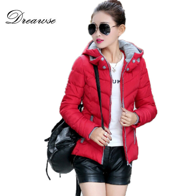 Dreawse Winter Warm Coat Solid Color Women Parkas Mujer Thick Plus Size Hooded Jacket Female Outerwear Femme Casual Jaqueta 1728