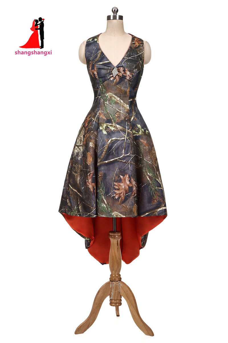 Online get cheap camo bridesmaid dresses aliexpress alibaba 2017 new orange camouflage bridesmaid dresses halter camo plus size hi lo prom dress wedding ombrellifo Images