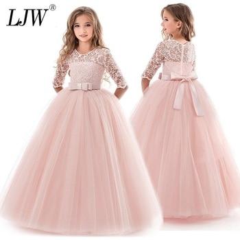 45f98e672486f9 Tiener Kostuum Meisjes Jurk Summe Kinderkleding Party Prinses Baby Meisjes  Kids Lace Trouwjurken elegante Prom Dress
