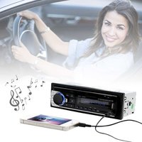 2PCS Bluetooth Car MP3 WMA WAV Player Remote Control Multimedia FM Receiver Radio Stereo Audio Music USB With Digital Screen