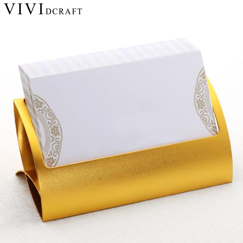 Vividcraft Creative Metal Card Holders Note Holders For Office Display Desk Business Card Holders Desk Accessories Stand Clip