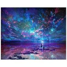 5D Completo DIY Broca Quadrado Pintura Diamante Starry sky 3d Mosaico Diamant Bordado Mosaico Decoração Do Quarto Casamento YW