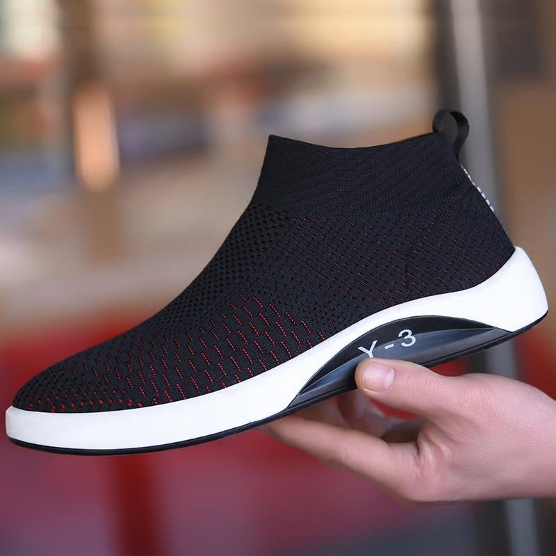 Primavera Dos 2018 Sapatos Casual Tendência red Homens Black Selvagem Maré Exercício Respirável Novos 5q6wFwBH