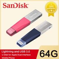 SanDisk USB דיסק און קי iXPand OTG ברק מחבר U דיסק USB 3.0 מקל 32GB 64GB 128GB עט כונני MFi עבור iPhone & iPad