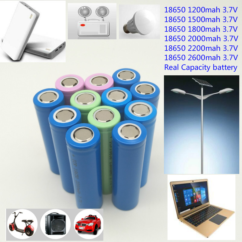 Cheap 18650 1200mah 1500mah <font><b>1800mah</b></font> 2000mah 2200mah 2600mah 18650 <font><b>3.7V</b></font> rechargeable Li-ion <font><b>battery</b></font> factory price wholesale(1 pc) image