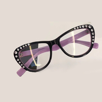 Oval Eyeglasses Frame For Women Acetate Frame With Packing Box 2018 New Fashion Optical Frame Oculos