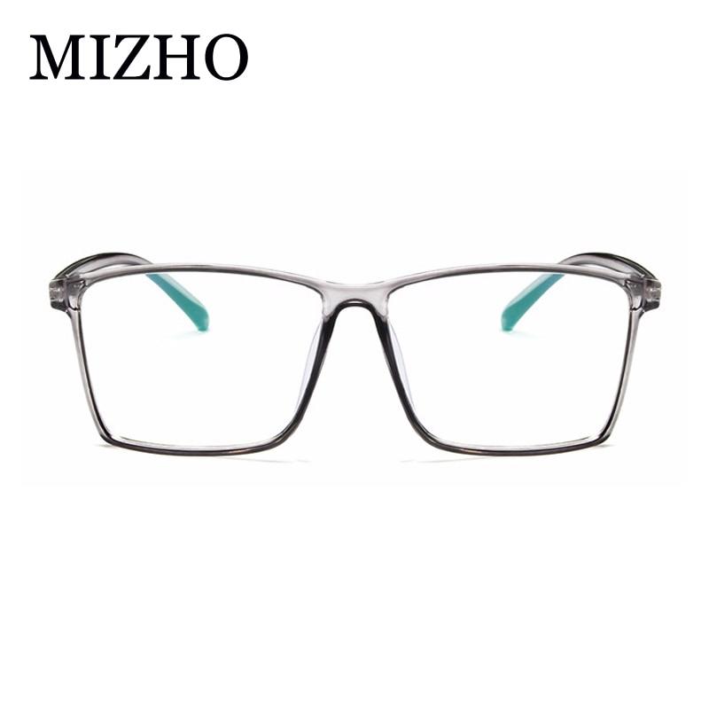 MIZHO Brand Designer Superstar Big Eyeglasses Women Vintage 2018 Fashion Transparent Plastic Ladies Glasses Frame For Men Square