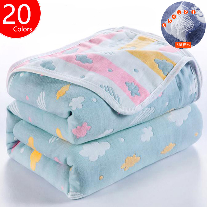 Baby Blanket Muslin Cotton 6 Layers Newborn Swaddling Autumn Baby Warp Swaddle Blanket Infant Bedding Receiving Blanket kettner warp t