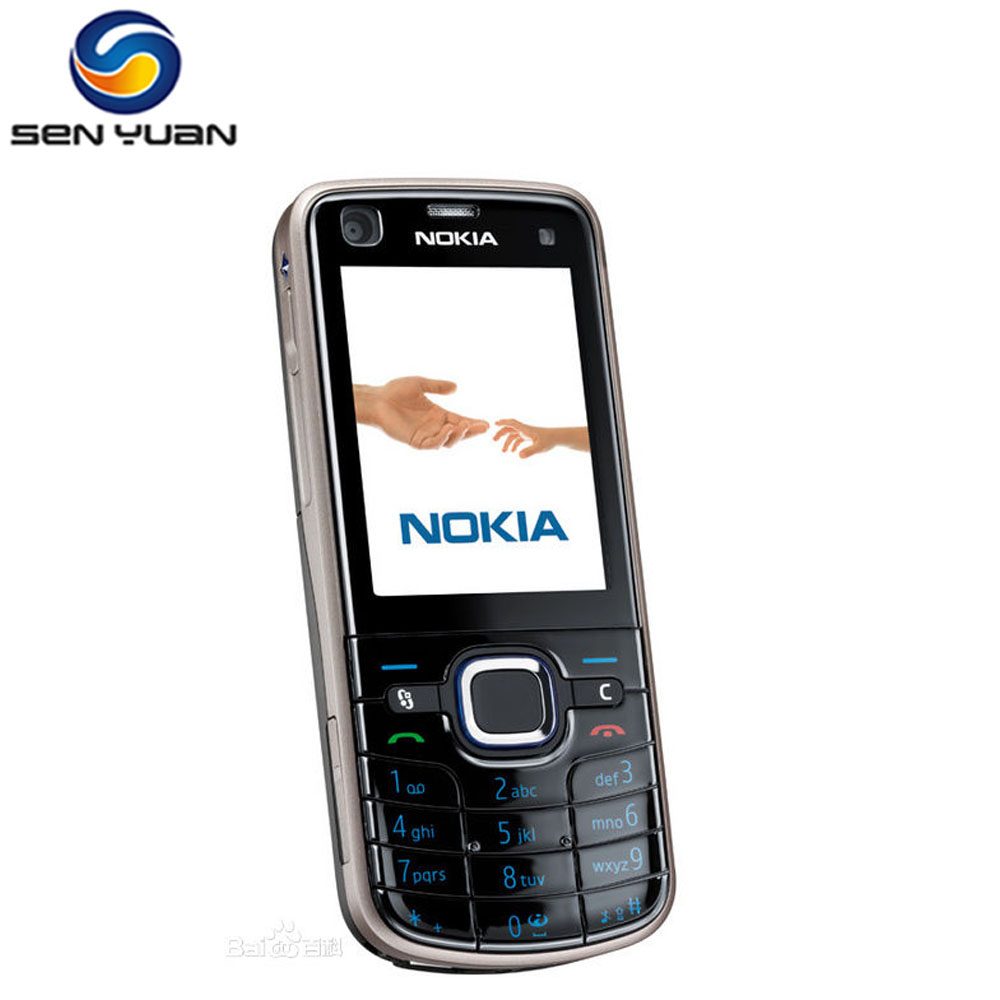 Original Nokia 6220 Classic A Gps 3g 5mp Camera 6220c Mobile Phone Asha 105 8 Mb Cyan Cell Free