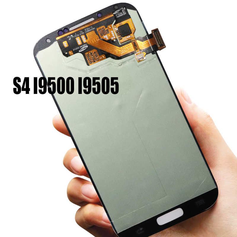 5.0 'الأصلي سوبر AMOLED شاشة الكريستال السائل لسامسونج غالاكسي S4 i9505 i9500 شاشة تعمل باللمس رقمنة الجمعية استبدال