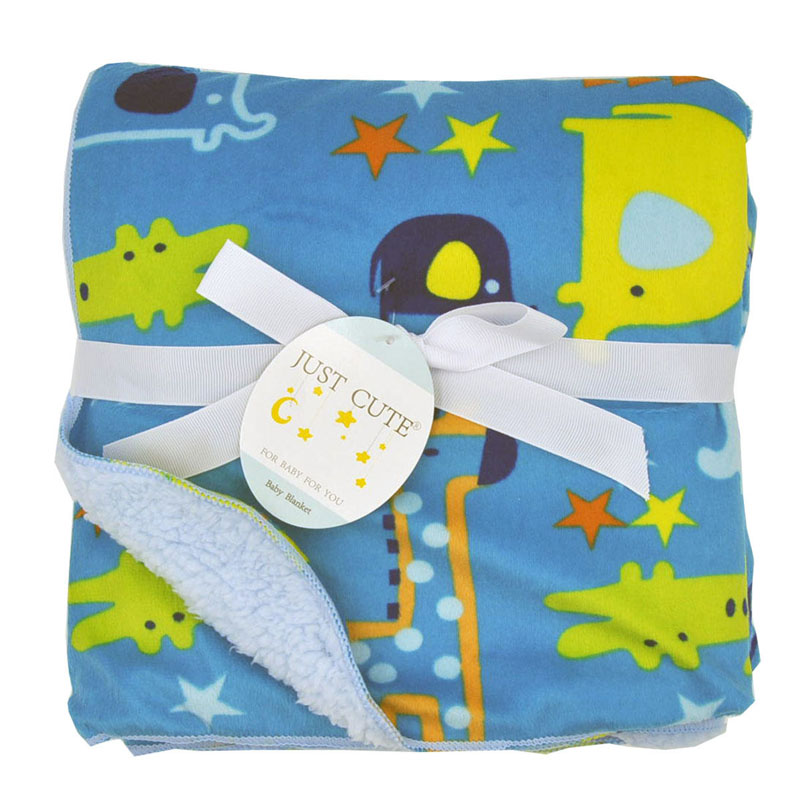 Cute Cartoon Newborn Baby Blanket Coral Fleece Baby Swaddle Super Soft Baby Wrap for Infant Baby Bedding Blanket Size 102cm76cm (18)