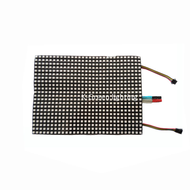 1X New arrival SK9822 RGB full color flexible led display 660/280/150/70/64 Pixels matrix pannel screen free shipping