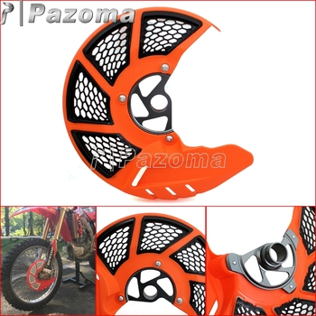Orange Motorcycle Front Brake Disc Rotor Guard Protector Plate for KTM EXC SX XC 125 530 SMR 450 525 2003-2015 Лобовое стекло