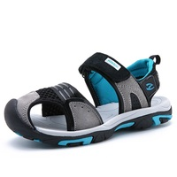 Boys Leather Leisure Beach Sandals Girls Flat Heels Summer Casual Shoes Kids Soft Sole Anti Slip Baby Sandals AA51176