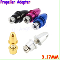 5 pcs/lots 3.17mm RC Aluminum Bullet Propeller Adapter Holder for Brushless Motor Prop Dropship