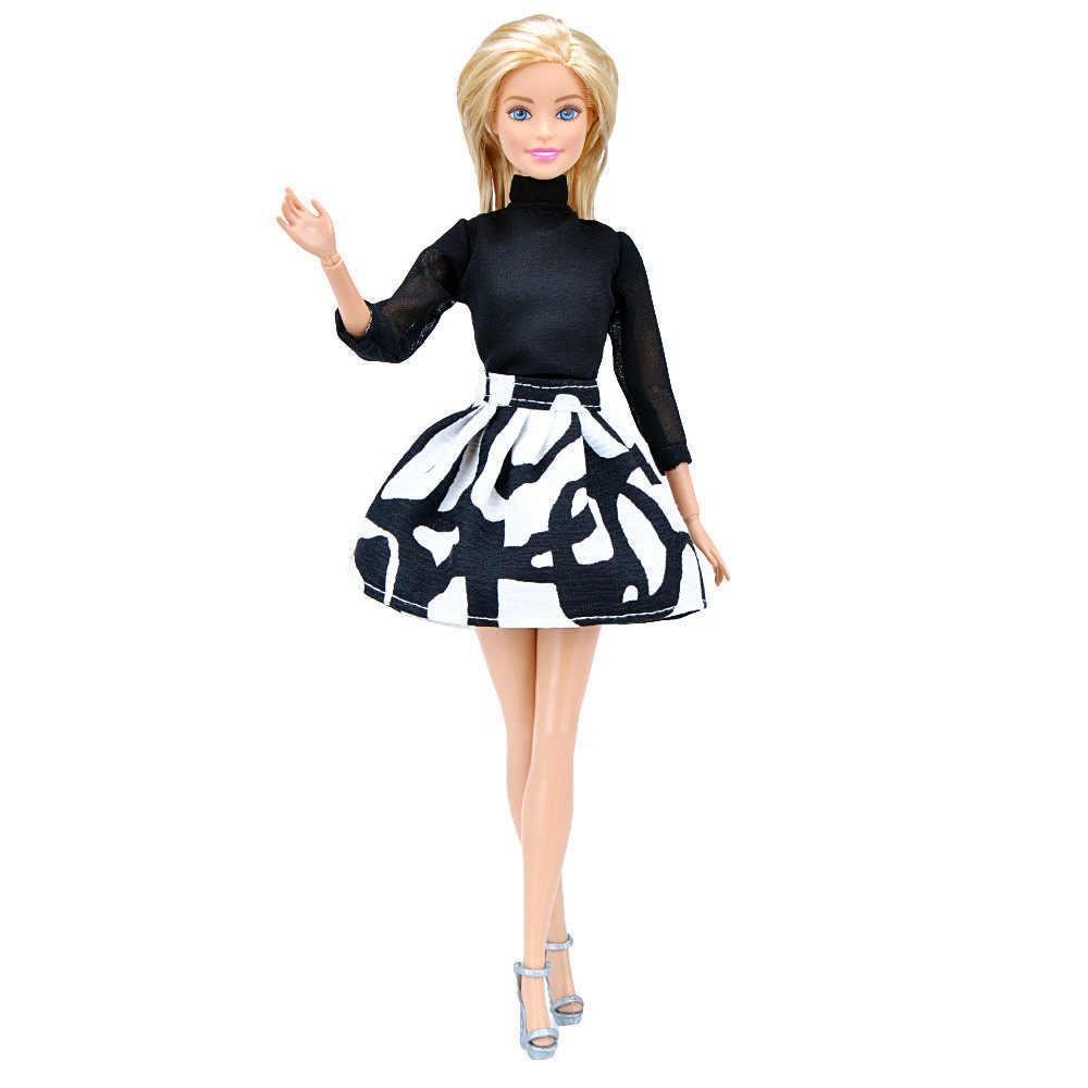 موضة مكتب فستان بتصميم بدلة ملابس لباربي 1/6 FR BJD ملابس دمى إكسسوارات لعب منزل خلع الملابس