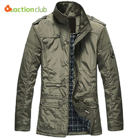 2015 New Arrival Fashion Relaxation Cotton Clothes Men Coat Thicken Keep Warm Outdoors Outwear Casual Jackets