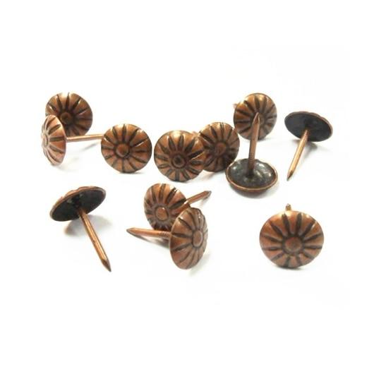 300pcs Cap Size 11 Mm Red Ancient Chrysanthemum Nailed Nail Flower Pumpkin Screw Wooden Jewellery Box Handwork Fix
