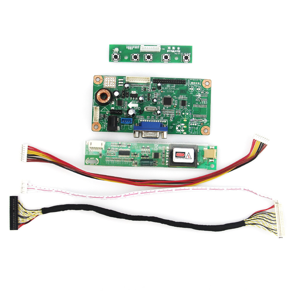 LCD/LED Control Driver Board VGA For QD15TL07 QD15TL03 1280x800 LVDS Monitor Reuse Laptop