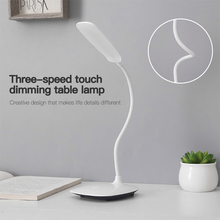 цены Novelty LED Table Lamp Eye Protection USB Rechageable LED Desk Lamp Touch Switch Reading Light Message Light 3 Mode Dimming