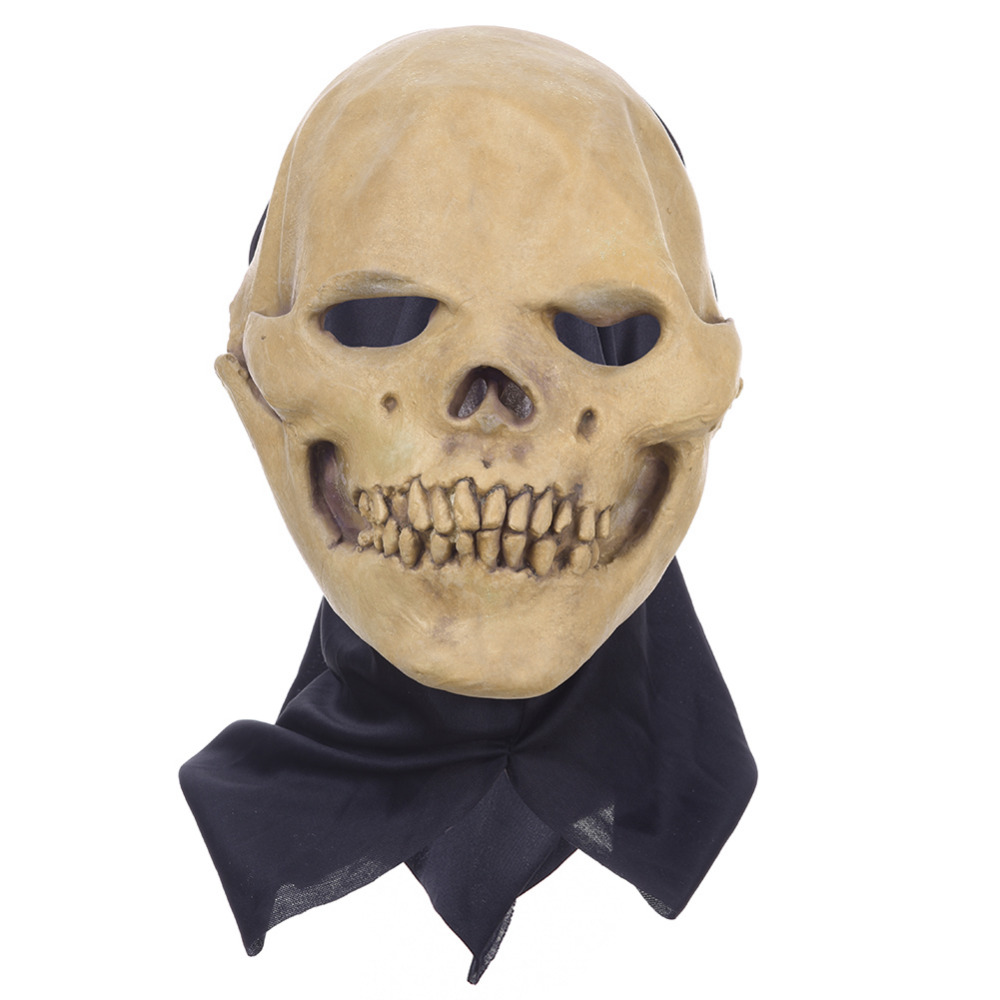 New Fancy Dress Party Cosplay Costume Mask Horrifying Skull Monster Adult Latex Masks Full Head Breathable Halloween Masquerade