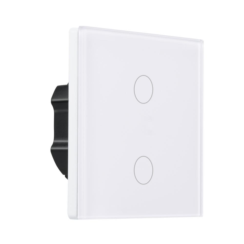 AC 220V 2 CH WiFi Smart Switch Wall Touch Panel App Control Work With Amazon Alexa Timing Function Voice Control Smart Switch цена