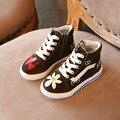 Meninas skate shoes nova primavera outono fashion girls macio casual shoes sapatilhas macias canvas shoes tamanho 26-30
