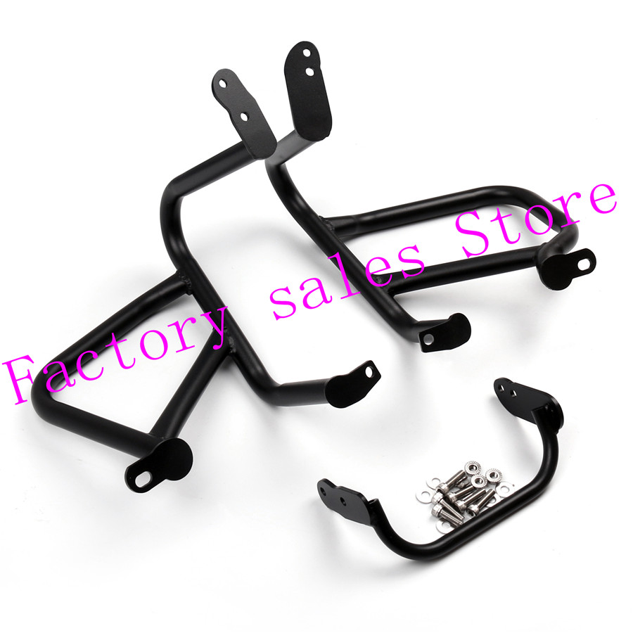 For BMW R1200R R 1200R 1200 R 2015-2016 2014 black Motorcycle Crash Protection Bars Engine Guard  Protective Frame zoomer ruckus fi nps50 black engine frame extend extension kit with black handle post metal motorcycle market