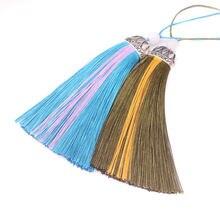Püsküller dekoratif ipek saçak garnitür diy püskül ipek püskül dikiş kumaş aksesuarları fringe trim için püskül çanta Dekor