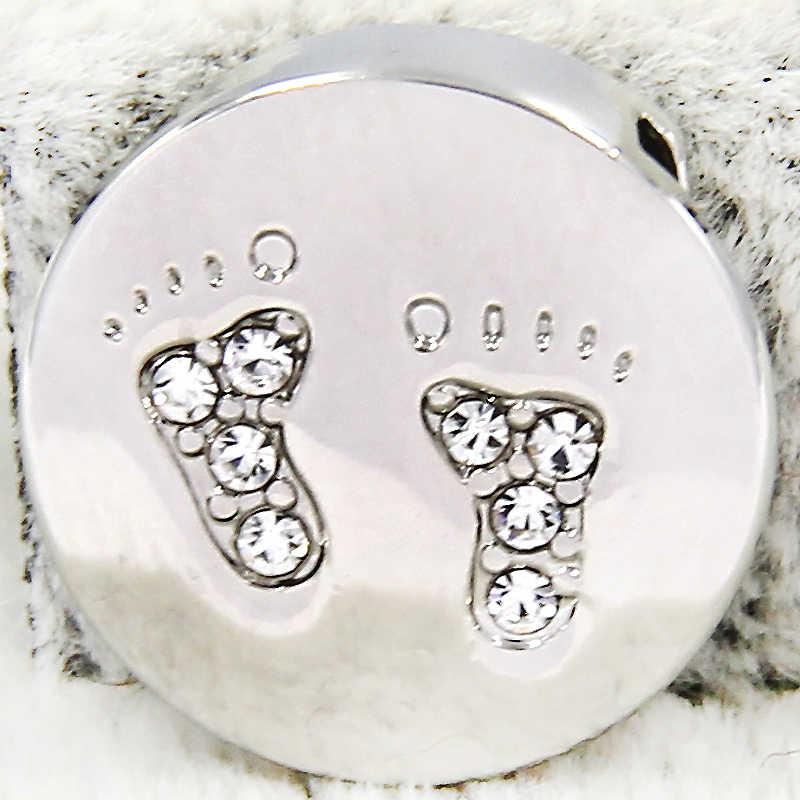 Ювелирные изделия yukam хрустальные стразы детские ноги горка талисманы хранитель для нержавеющей стали сетки Хранитель браслеты ключи аксессуары для изготовления