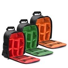 Buy 1pc Waterproof Digital DSLR Photo Padded Backpack w/ Rain Cover Laoto  Multi-functional Camera Soft Bag Video Case