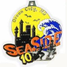 Manufacturer custom flower shape gold-plated cheerleading medal hot sale running