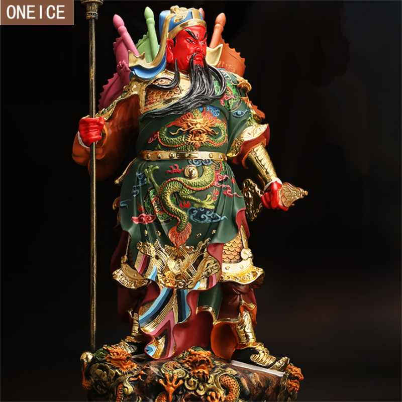 Guan Gong statue resin hand-carved home decoration accessories Fortuna Guan Yu painted statues boutique  Kowloon Guan Gong 30cm