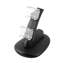 LED Twin USB Charging Charger Dock Stand Cradle Docking Station for Sony Ps four PS4 Sport Gaming Console Controller