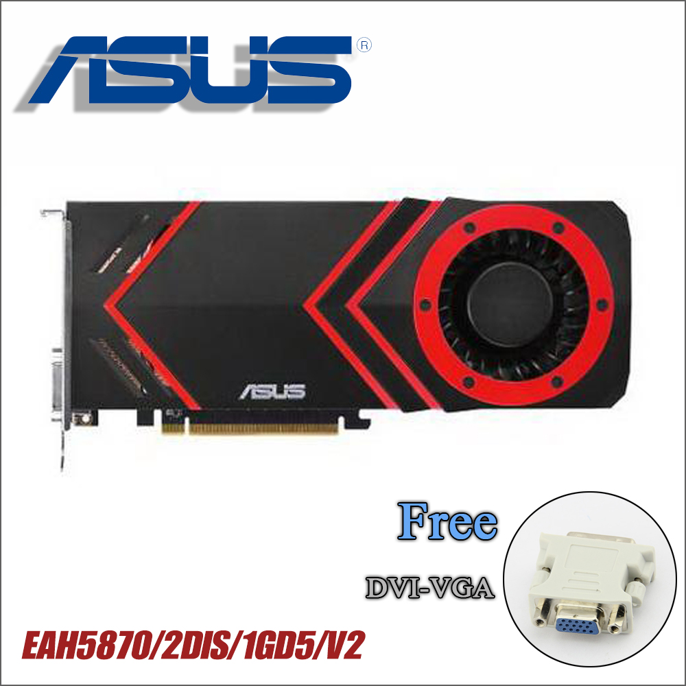 used ASUS Graphics Card HD5870 1GB 256Bit GDDR5 Video Cards for ATI Radeon HD 5870 VGA Cards stronger GTX 750TI GTX750 GTX 750