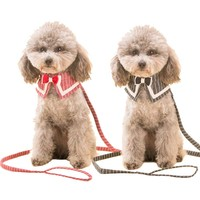 Cute Cat Bow Tie Dog Necktie Puppy Kitten Adjustable Collar Bowknot With Matching Leash Lead Set