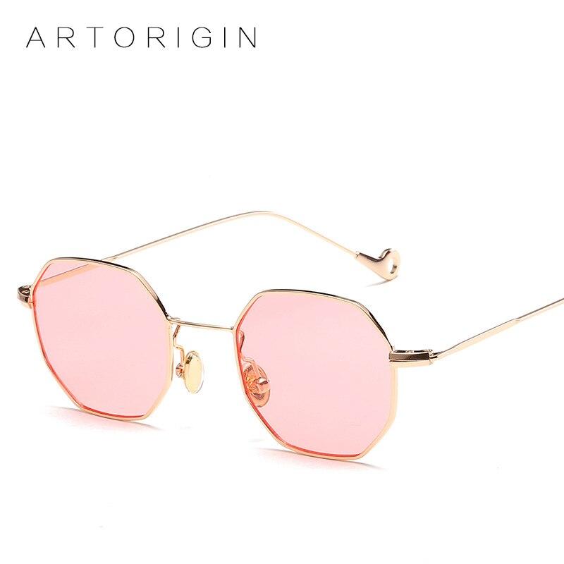 Trend 2017 Square Hexagon Sunglasses Women Tinted Sun Glasses For Men Unisex Eyeglasses Pink Lunette Brand Designer Eyewear