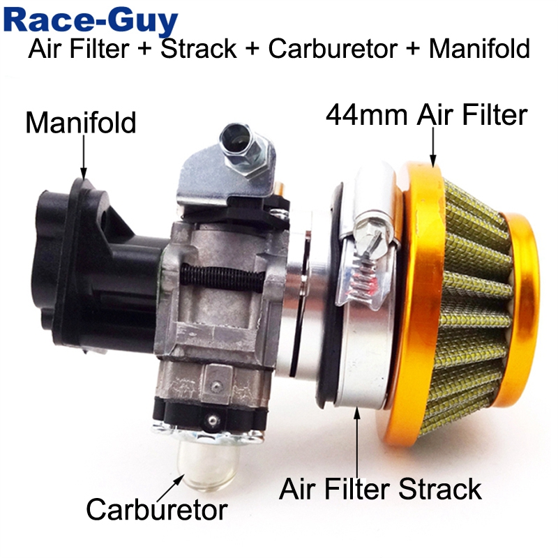 15mm Carburetor Air Filter Alloy Stack Kit 33cc 43cc 49cc Goped EVO Gas Scooter