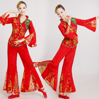Yangko Dance Clothes Colorful Costume Classical Dance Costume Fan Dance Suit Old Performance Clothing Fairy Women