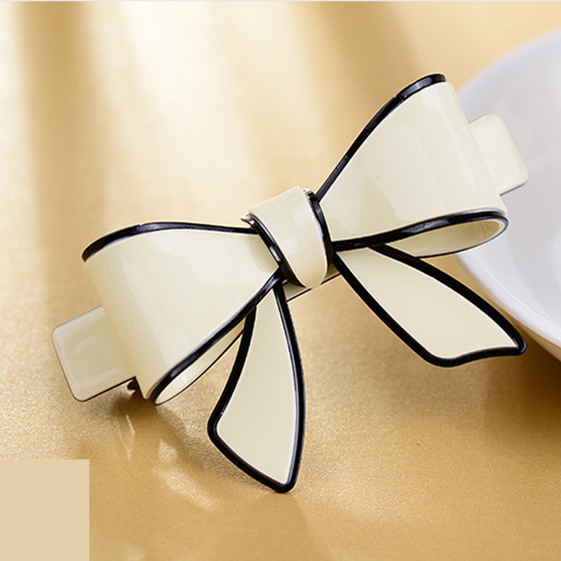 Trendy Acetate butterfly hair pins and clips hair barrettes French Hairpins For Women Candy Color Fashion Jewelry Accessaries