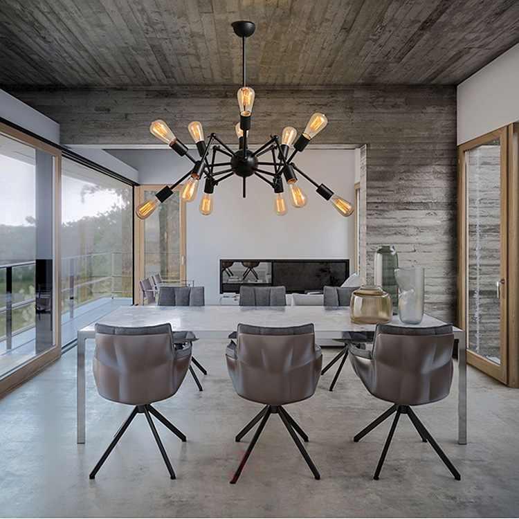 Подвесные светильники lukloy, промышленный подвесной светильник-паук, современный светильник, регулируемый скандинавский Ретро светильник для гостиной, лофт, лампа