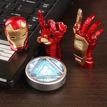 NEUE Avengers Iron Man Hand LED-Stick 64 GB USB 2.0 Speicher Stick Flash-karte 128 GB 1 TB 2 TB Pendrive 512 GB Stick Geschenk schlüssel