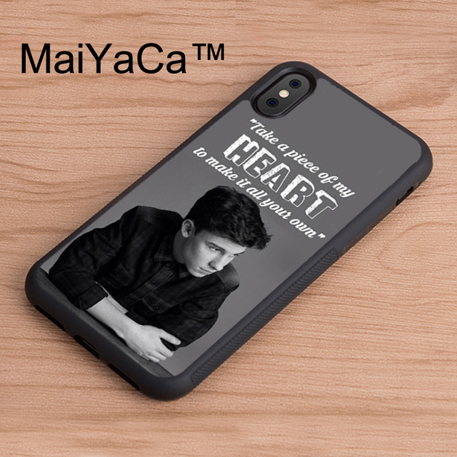 reputable site f4cfb 88976 US $4.29 5% OFF|MaiYaCa Shawn Mendes Quote New For iPhone X Case Soft  Rubber Skin Case For Apple iPhone X TPU Cover Capa-in Fitted Cases from ...