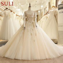 SuLi SL-7814 Church Short Sleeve Wedding Dresses 2017