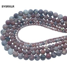 Natural Stone Red Plum Jaspers Round Loose Beads For Jewelry Making DIY Bracelet Necklace Pick Size 4/6/8/10 /12 MM Strand