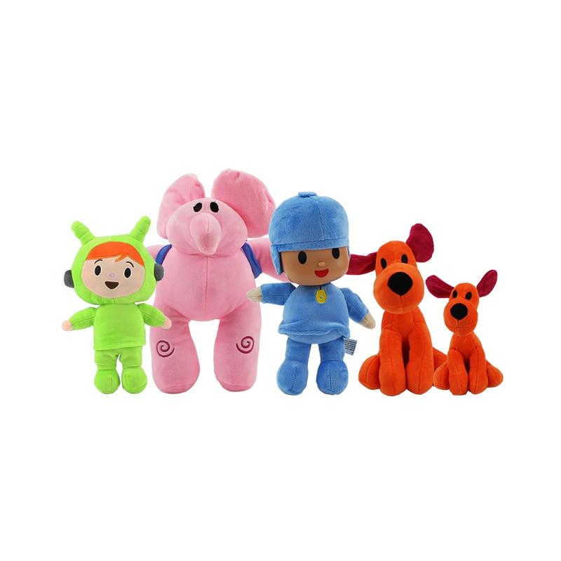 Pocoyo Elly Pato Loula Plush Toy Stuffed Doll Soft Figure 4 Kinds Kid Gift USA