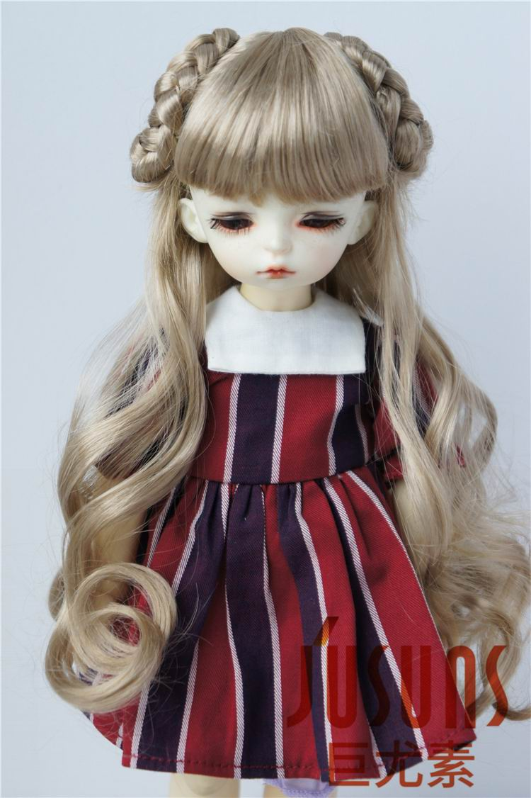 JD125 1/6 Yosd Celine Long BJD Syntheic mohair doll wig 6-7 inch  Lati doll accessories uncle 1 3 1 4 1 6 doll accessories for bjd sd bjd eyelashes for doll 1 pair tx 03