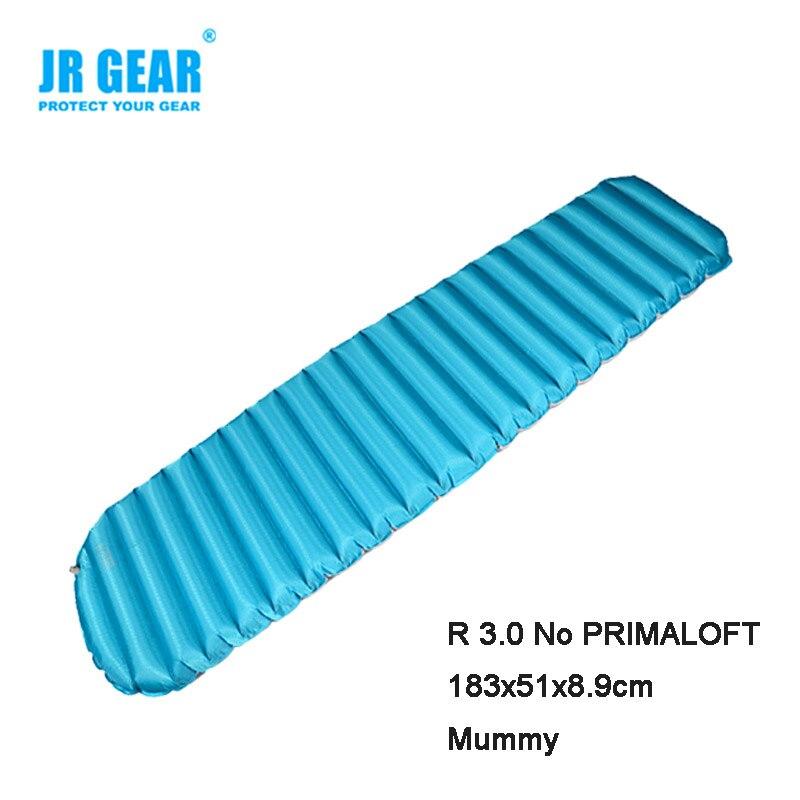 JR Gear Single R3.0 Thermal Resistance 183x51x8.9cm  Waterproof  Anti-tearing Cushion Sleeping Mattress Pad Air Bed single sided blue ccs foam pad by presta