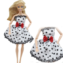 1pcs Outfit Handmade Fashion Short Dress For Barbie Doll Dress Baby Girl Birthday new year Best