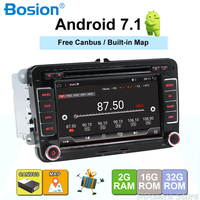 Android 7,1 7 2din DVD для VW POLO GOLF 5 6 поло PASSAT B6 CC JETTA TIGUAN TOURAN EOS шаран SCIROCCO CADDY с gps Navi